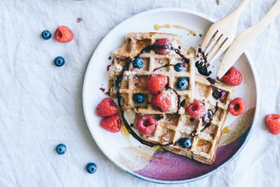 Vegan Waffles from Elsa's Wholesome Life