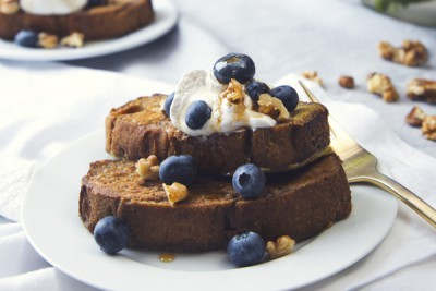 Vegan Banana Bread French Toast from Pickles and Honey